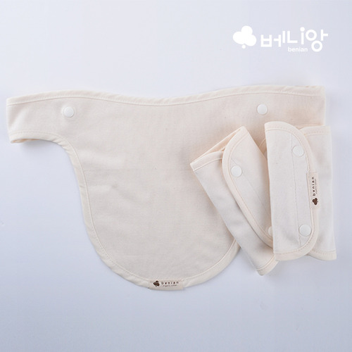 [베니앙] 오가닉 아기띠 양면침받이3P세트(어깨용2P+전면용)